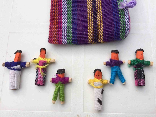 Offer your child Guatemala worry dolls of