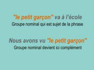 Comment expliquer à un enfant le groupe nominal sujet - GNS