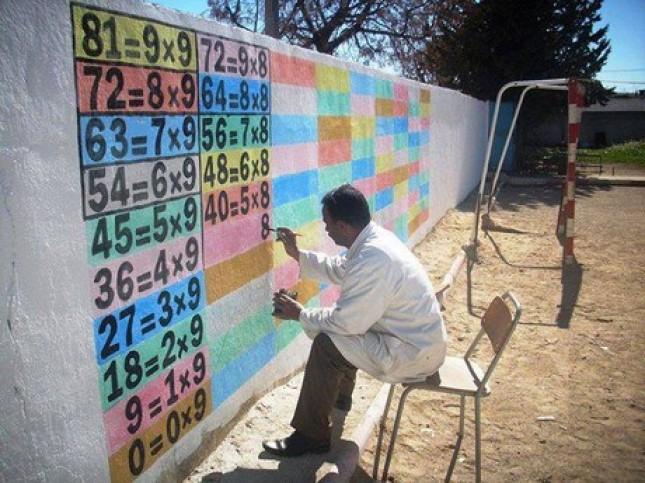 Mr fouad hamdi apprendre sur les murs de l 39 cole for Apprendre a peindre un mur