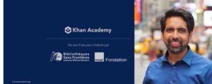 Salman Kahn Academy des cours gratuits pour vos enfants