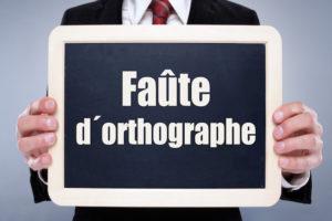 Faute d'orthographe